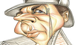 Coloured Pencils/ Ink - Mick Hollinworth Caricatures